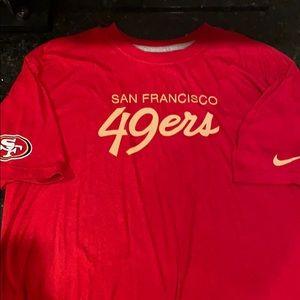 Nike San Francisco 49ers throwback T-shirt